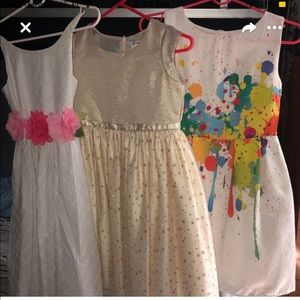 Little girl size 10 party dresses